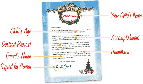 free printable personalized letters from santa free letters from santa free personalized printable 16646